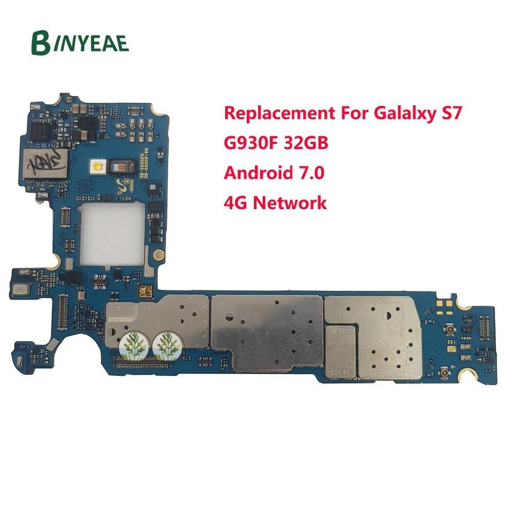 BINYEAE G930F Motherboard Principal Substituição Original Para Samsung Galaxy S7 G930F 32 gb Desbloqueado Europa 4g Rede