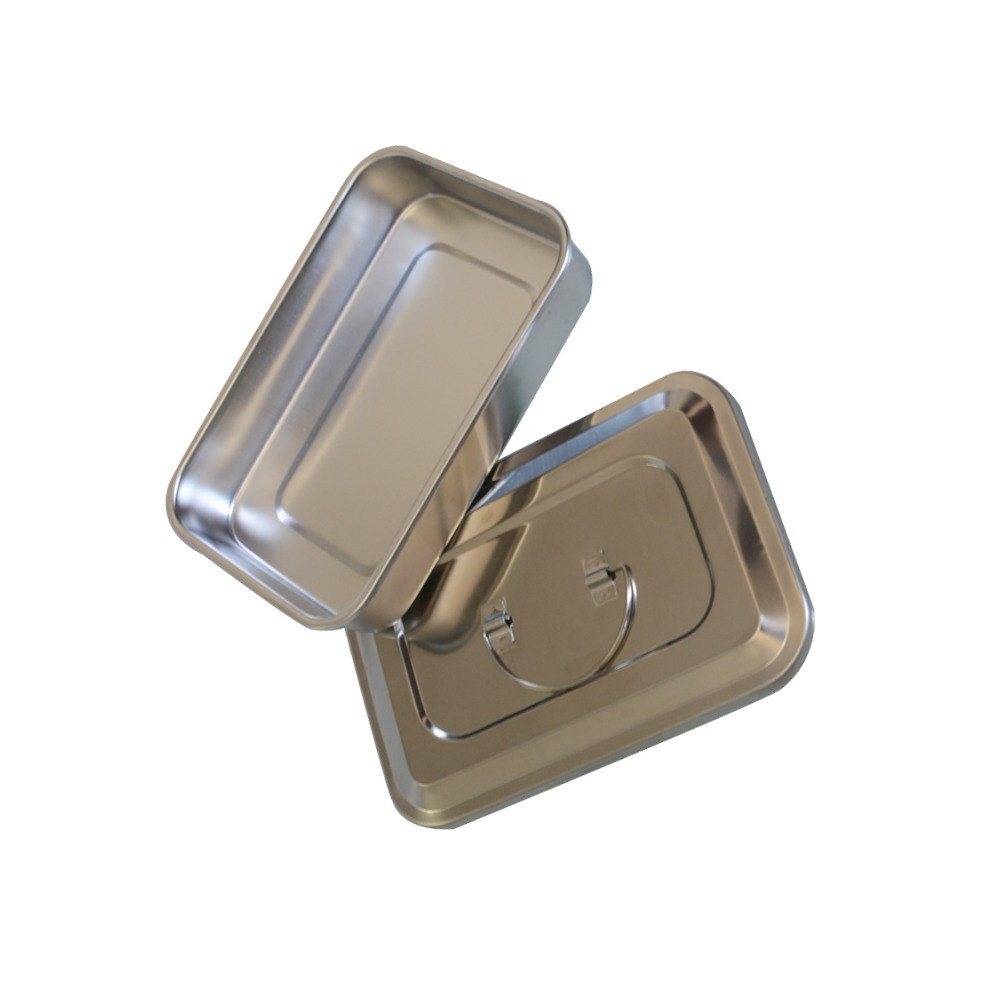 1Pc Stainless steel ware disinfection tray cassette cover plates 9 inch surgical dental box medical health care supplies 5