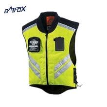 Мотоцикл езда светоотражающий жилет сетки взрослых скутер одежда мотоцикл предупреждение куртка так здорово зеленый moto куртки m-xl