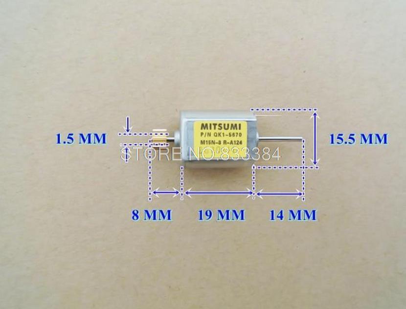 10 шт. бренд Japan mitsumi DC микро Двухосная железная крышка углеродная щетка с выходом медная Шестерня 12 В 13100 об/мин