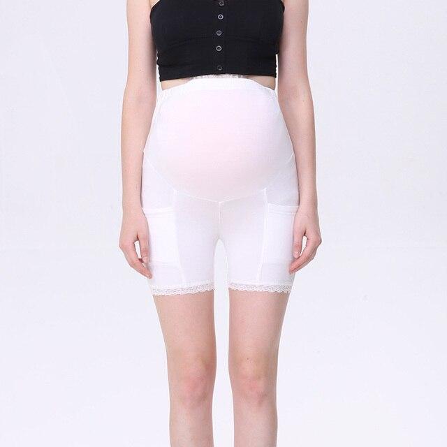46eff4231 Maternidad Pantalones cortos verano Delgado blanco Pantalones Cuidado  vientre flojo embarazo corto Pantalones
