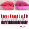 12 Colors Lipsticks Waterproof Lipsticks Easy to Wear Lip Stick Cosmetic 24h long lasting lip stick  A2