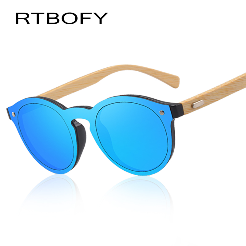 RTBOFY Wood Sunglasses for Women & Men Bamboo Frame Glasses Handmade Wooden Eyeglasses, with Free Bamboo Gift Case 319-4