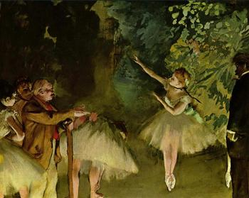 High quality Oil painting Canvas Reproductions Ballet Rehearsal (1875) By Edgar Degas hand painted