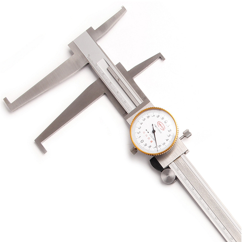 9-200mm/0.02 Inside Dial Caliper Stainless Steel Long Claws Bidirectional Shockproof Measuring Tools