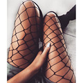 Mulheres Sexy Fishnet Stockings 2017 Rede de Pesca Meia-calça Grandes Meias Buraco Sexy Noite Clubwear Black Mesh Lingerie Sheer calças Justas Da Menina