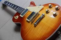 Upgrade 1959 R9 Tiger Flame Electric Guitar ONE Piece Neck No Joint ONE Piece Mahogany BODY