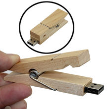 8GB 16GB 32GB Wedding gift Wood clothespin Clamp Natural USB 2.0 Memory Flash Drive Original Gift