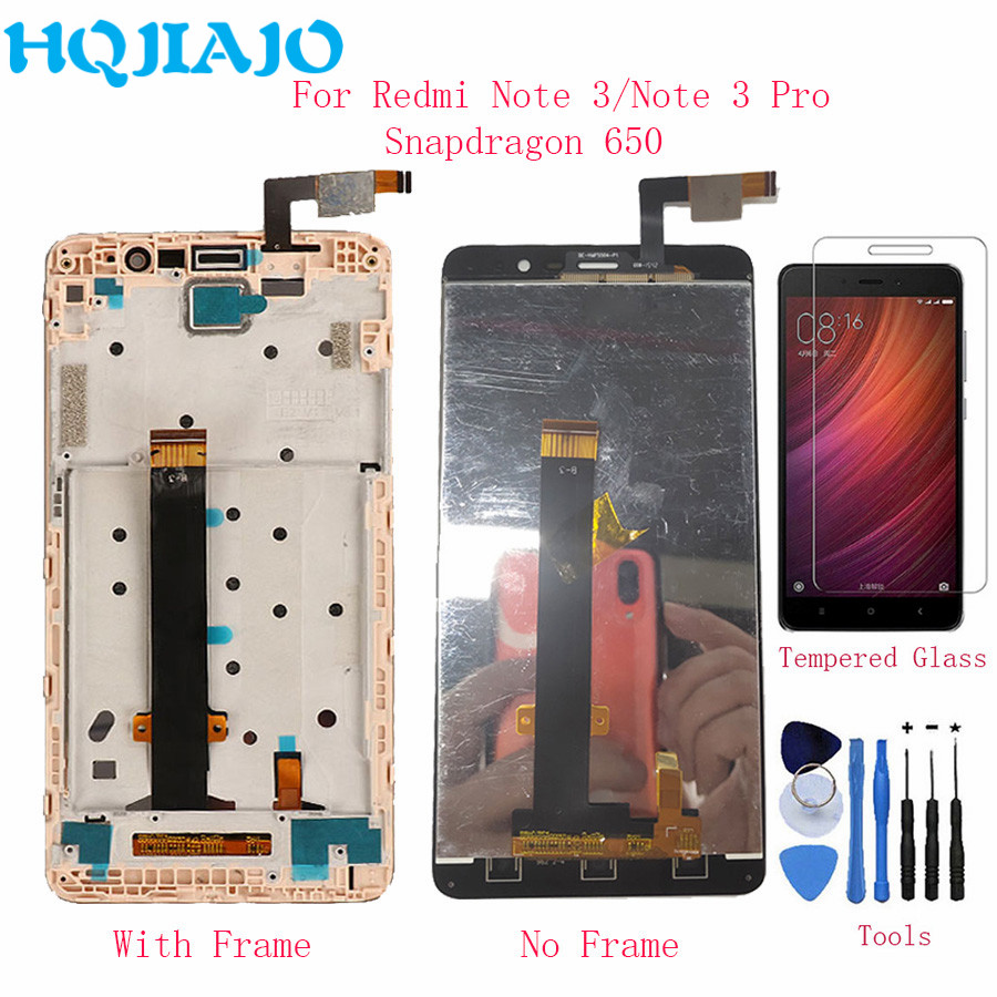 HQJIAJO For Xiaomi Redmi Note 3 Snapdragon 650 LCD Screen Touch Display Digitizer With Frame For Redmi Note 3 Pro 150mm LCDsHQJIAJO For Xiaomi Redmi Note 3 Snapdragon 650 LCD Screen Touch Display Digitizer With Frame For Redmi Note 3 Pro 150mm LCDs