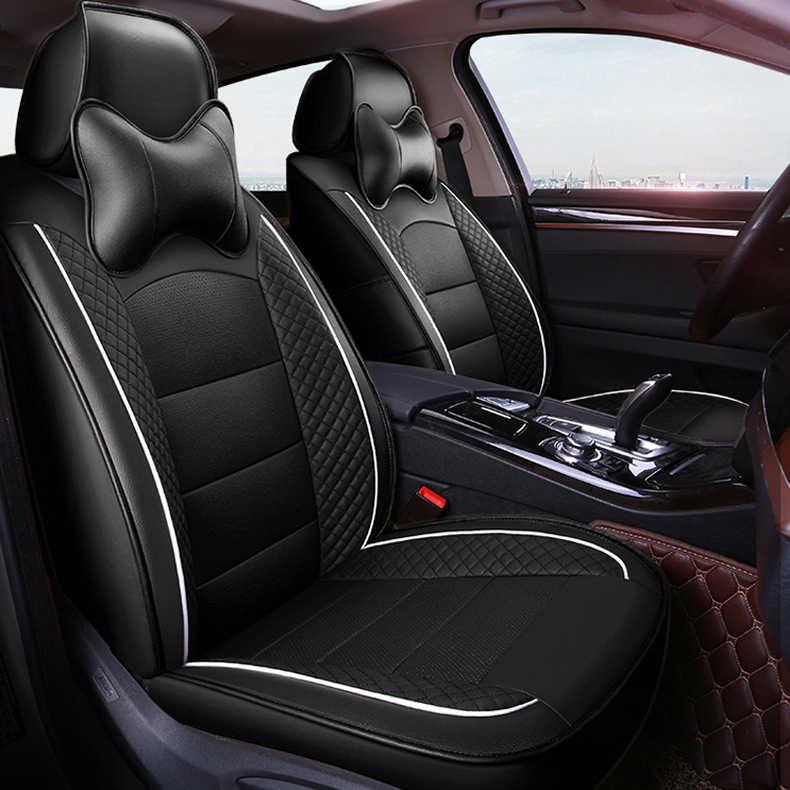 Housse de siège de voiture personnalisée seulement 2 sièges avant pour Kia carnaval Sorento Carens Borrego VQ housses de Protection de siège de voiture pour sièges de voiture