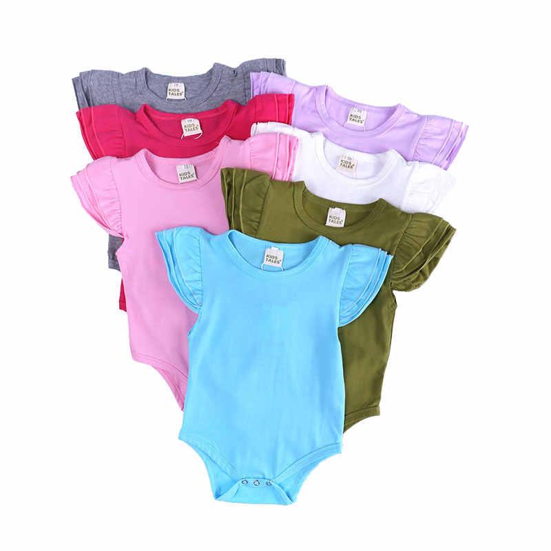 Одежда для новорожденных от 3 до 24 месяцев Летнее Детское Боди хлопковые комбинезоны без рукавов для младенцев однотонная одежда для маленьких девочек