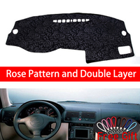 Rose Pattern For Volkswagen Golf 4 2006 Dashboard Cover Car Stickers Car Decoration Car Accessories Interior Car Decals