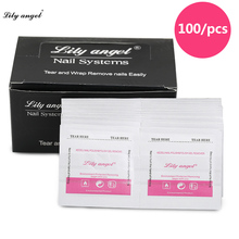 Nail Remover 100Pcs/lot Art Gel Polish Lacquer Easy Cleaner Wraps UV Tools Z20