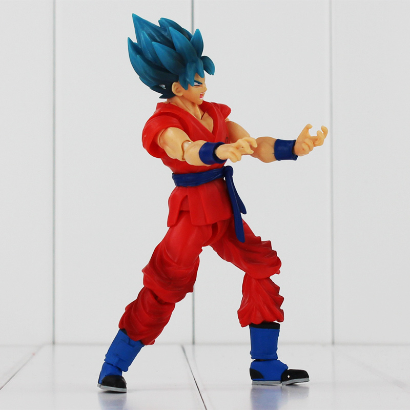 16cm Anime Dragon Ball Z SHF Figuarts Super Saiyan God Goku Joint Movable PVC Action Figure Collection Model Toy for Kids