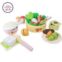[Umu] Girl Kitchen Cooking Toys For Children Chinese Style-Dinner Time Utensils Cutlery Sets Play Gouse Educational Toys