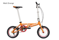 Free Shipping Single Speeds 14 Inches Folding Bike Folding Bicycle Aluminum Alloy Body Both Disc Brakes