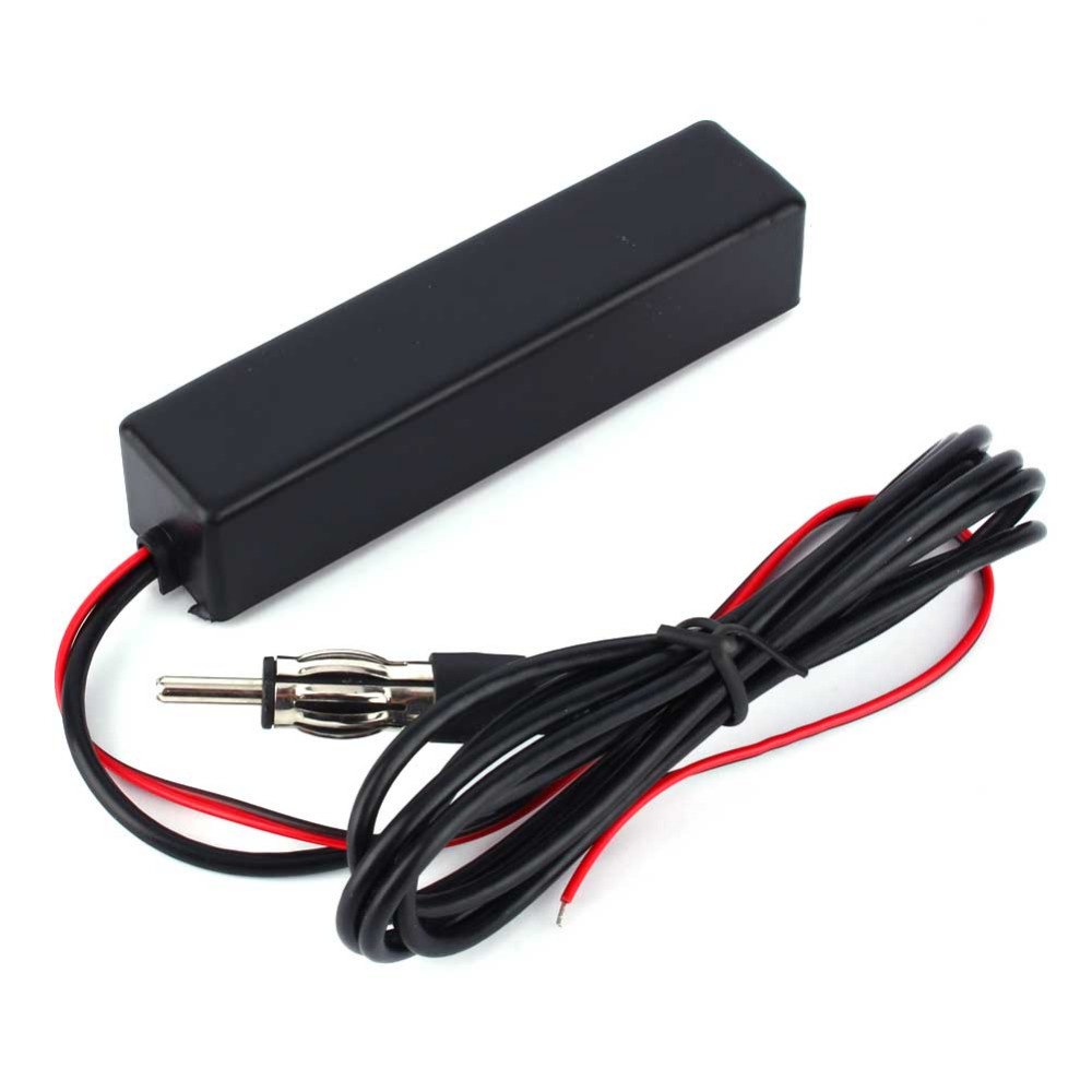 Electrónico Universal Car Stereo Radio Electrónico Ocultos Amplified Antena FM/AM Amplificado Para El Carro Del Coche Del Vehículo
