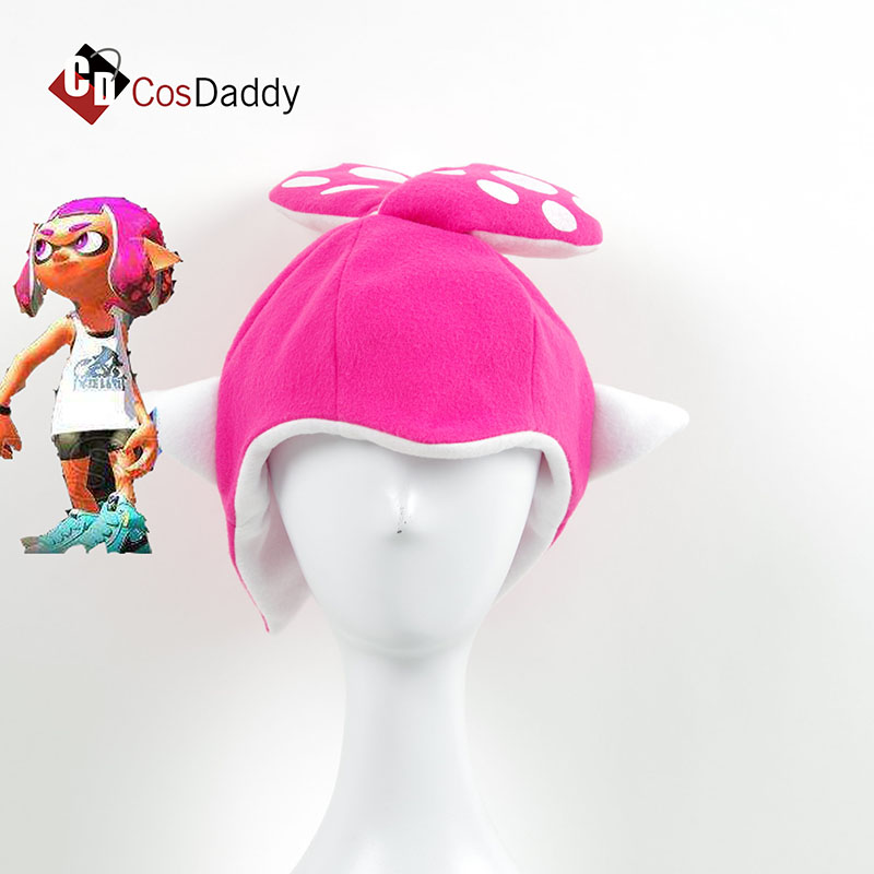 Splatoon 2Inkling Squid Cosplay Hat Party cute Cap Funny Halloween Christmas ClubCostumes Accessories Gift Adult Kids CosDaddy
