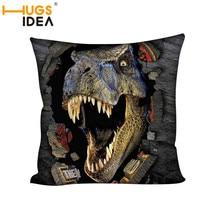 HUGSIDEA Jurassic Park Dinosaur Cushion Cover  Pillow Covers 45*45cm Square Pillows Case Sofa Car Home Decoration Pillowcase