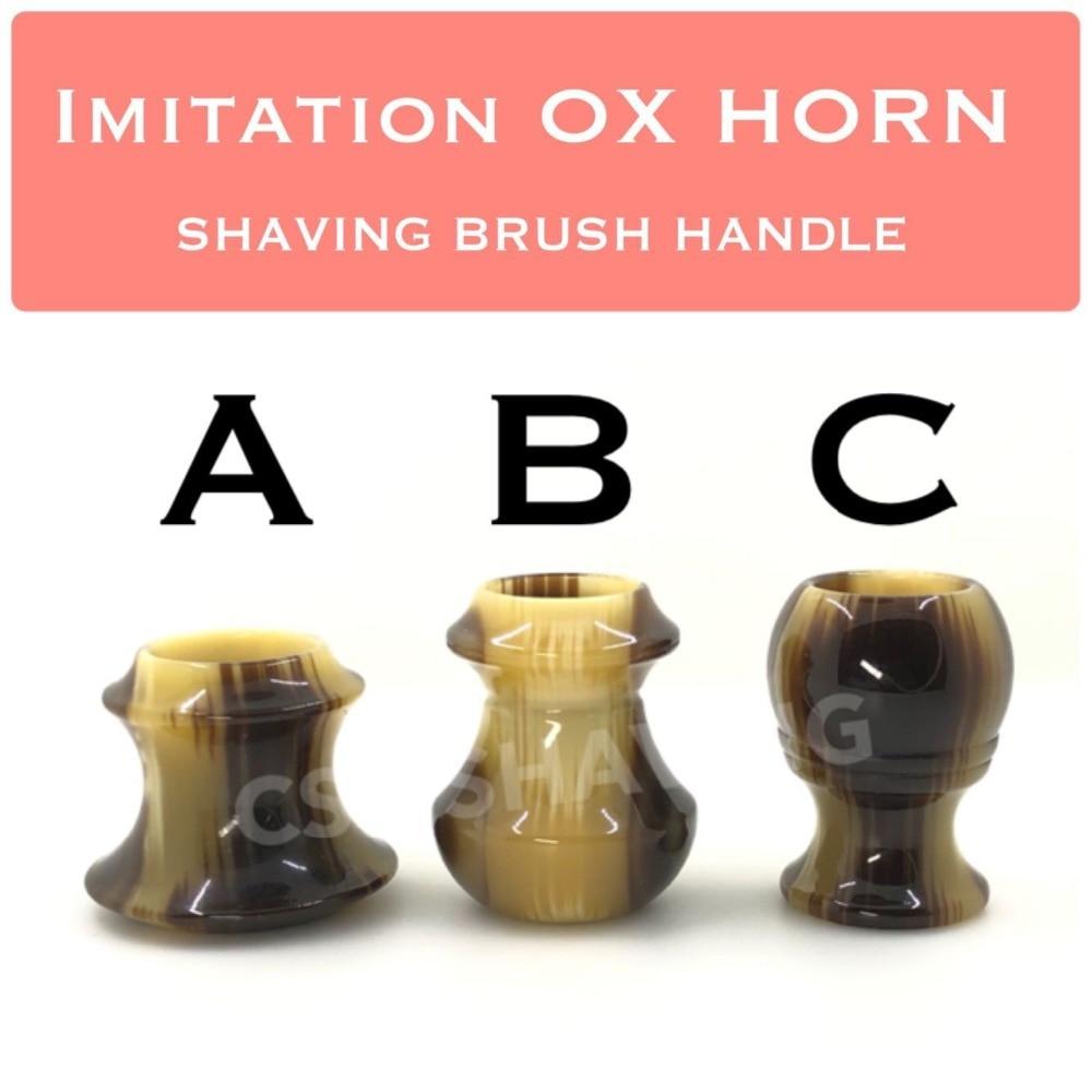 CSB 9 PCS Imitation OX HORN Resin Shaving Brush Hanlde DIY Accessorise Barber Shop Hair Salon
