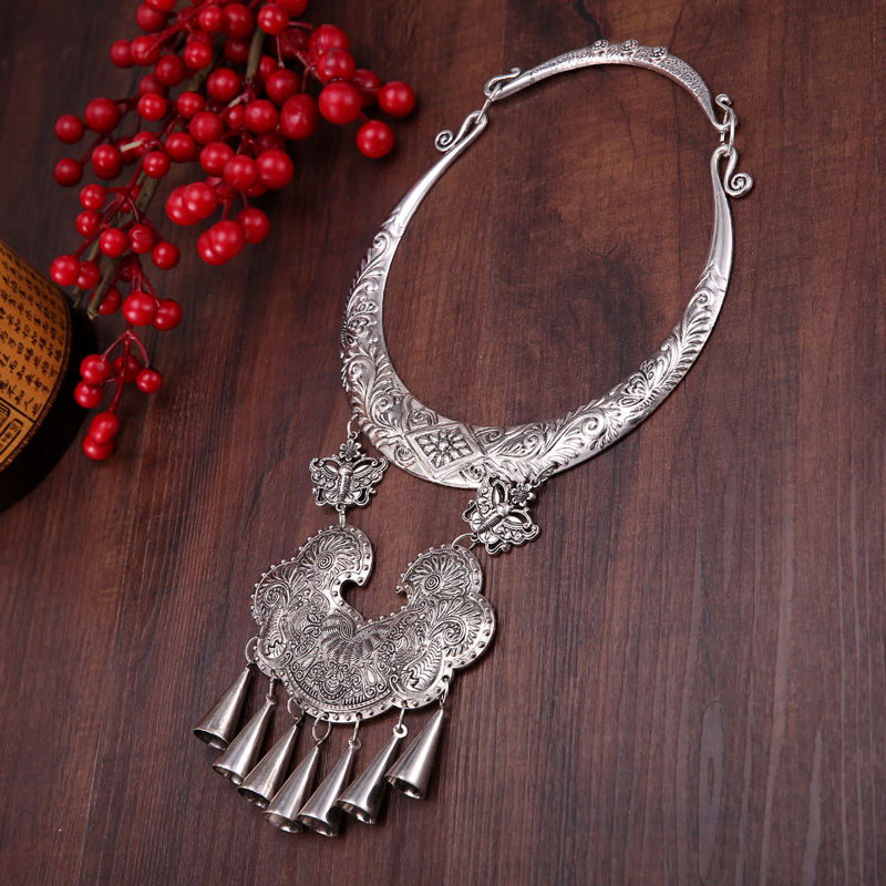 necklaces & pendants  Original palace Retro Big collar Miao silver dance accessories Yunnan exaggeration Ethnic Classic