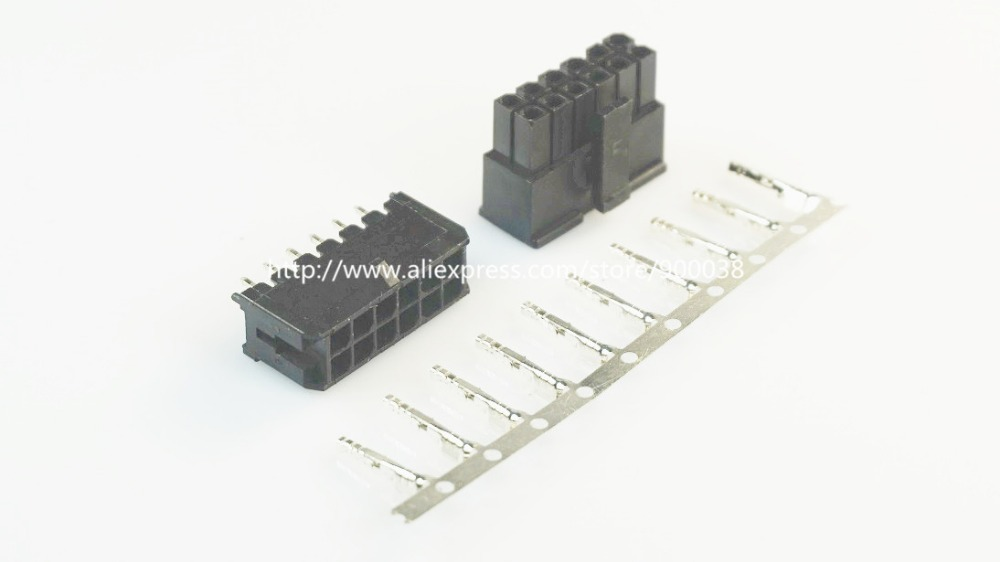 200 Sets Micro-fit Connector 3.0mm 2x6 Pin 12 P Wafer Straight Dual Row Terminal 43025 43030 We Take Customers As Our Gods 43045 Receptacle Housing