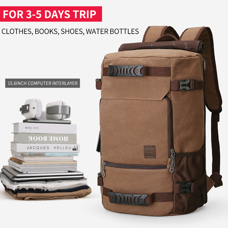 5581c7673ec3 MUZEE New Backpack Men Canvas Backpack Large Capacity Bag for Travel  Backpack 15.6inch Laptop Backpack-in Backpacks from Luggage   Bags on  Aliexpress.com ...