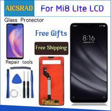 Original For Xiaomi Mi 8 Lite lcd display touch screen Digitizer Assembly 10 touch with frame for mi 8 lite display repair parts