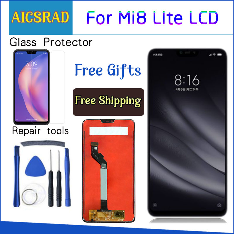 Original For <font><b>Xiaomi</b></font> <font><b>Mi</b></font> <font><b>8</b></font> Lite lcd <font><b>display</b></font> touch screen Digitizer Assembly 10 touch with frame for <font><b>mi</b></font> <font><b>8</b></font> lite <font><b>display</b></font> repair parts image