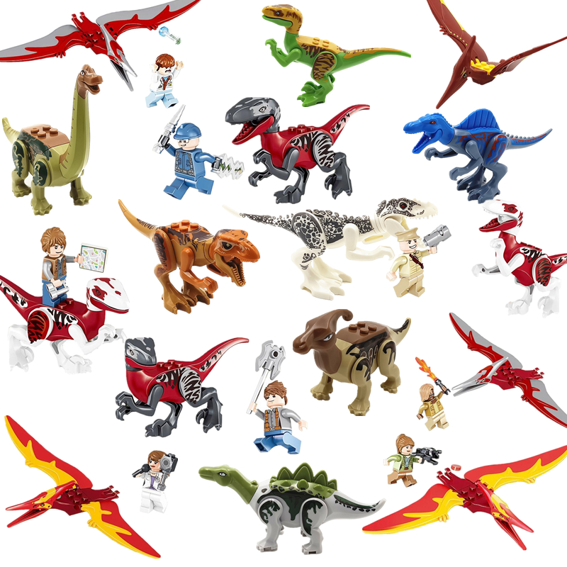 Jurassics World Park Blocks Dino World Dinosaur Toys Model Kids Building Block Bricks Toys For Children Legolingly Avengers