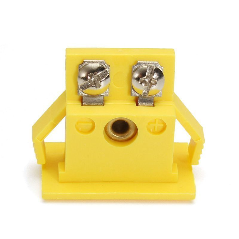 Yellow Thermocouple Socket Shell Plug Adaptor Mini Thermometer Universal K-Type Miniature Alloy Connector Nylon