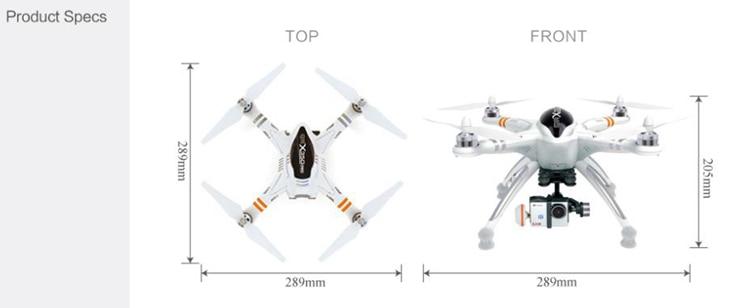 Drone Quadcopter Fotografia aerea professionale