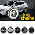 Ace speed-Metal key ring for Mercede AM G keychain Double sided logo Auto key ring tow style for Benz