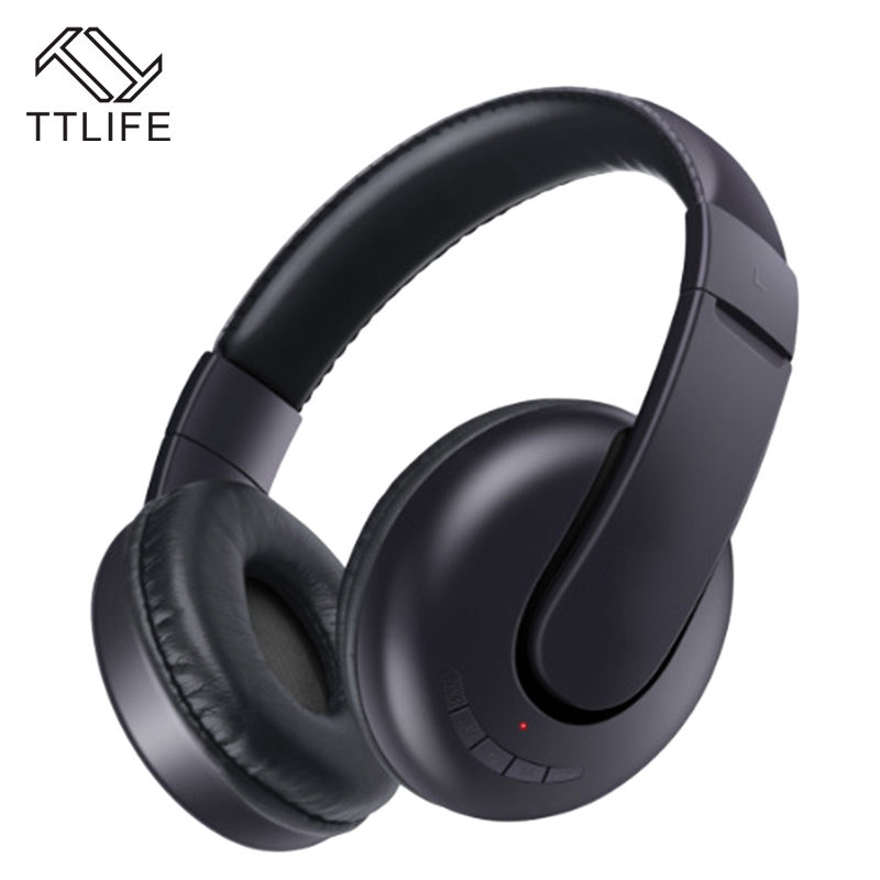 TTLIFE Wireless Stereo Headphone Bluetooth 4.1 Auriculares Earphone Portable Noise Cancelling Headset Support TF Card FM Radio