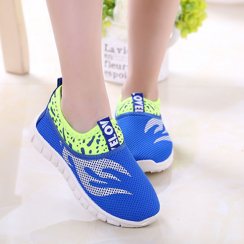 2018 Autumn casual sport sneakers for boys and girls kids flat running child shoes candy colors children 's single shoes 21-38 2016 new shoes for children breathable children boy shoes casual running kids sneakers mesh boys sport shoes kids sneakers