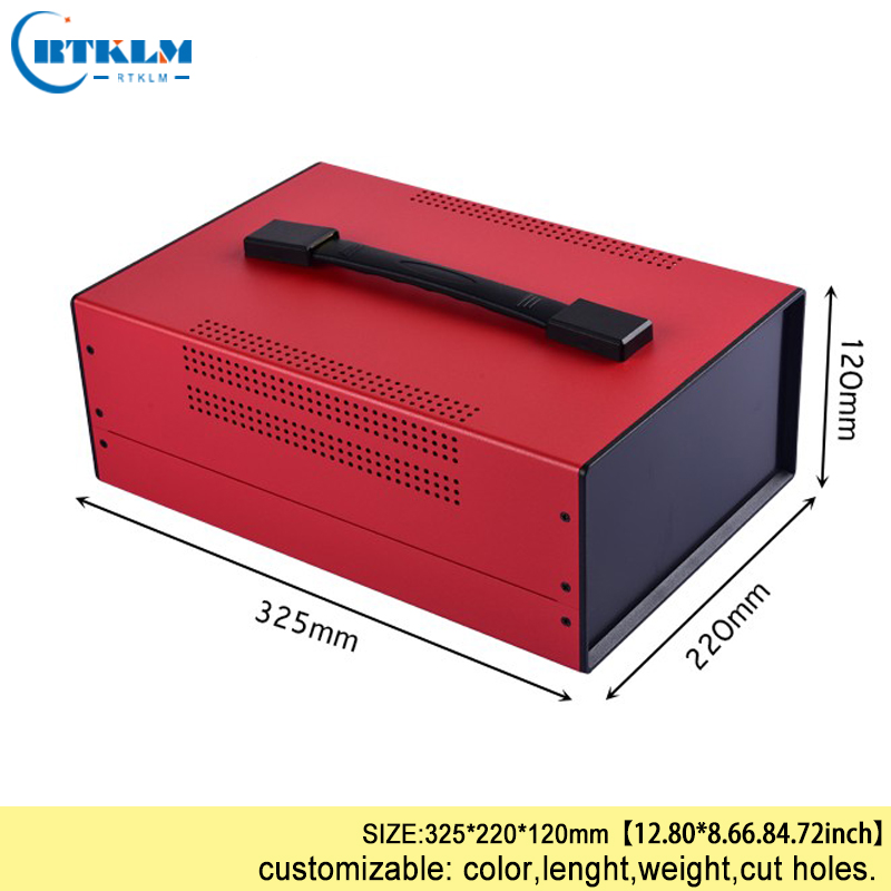 DIY Junction Box Iron Enclosures For Electronics Project Box Iron Connection Box Handheld Iron Distribution Case 325*220*120mm