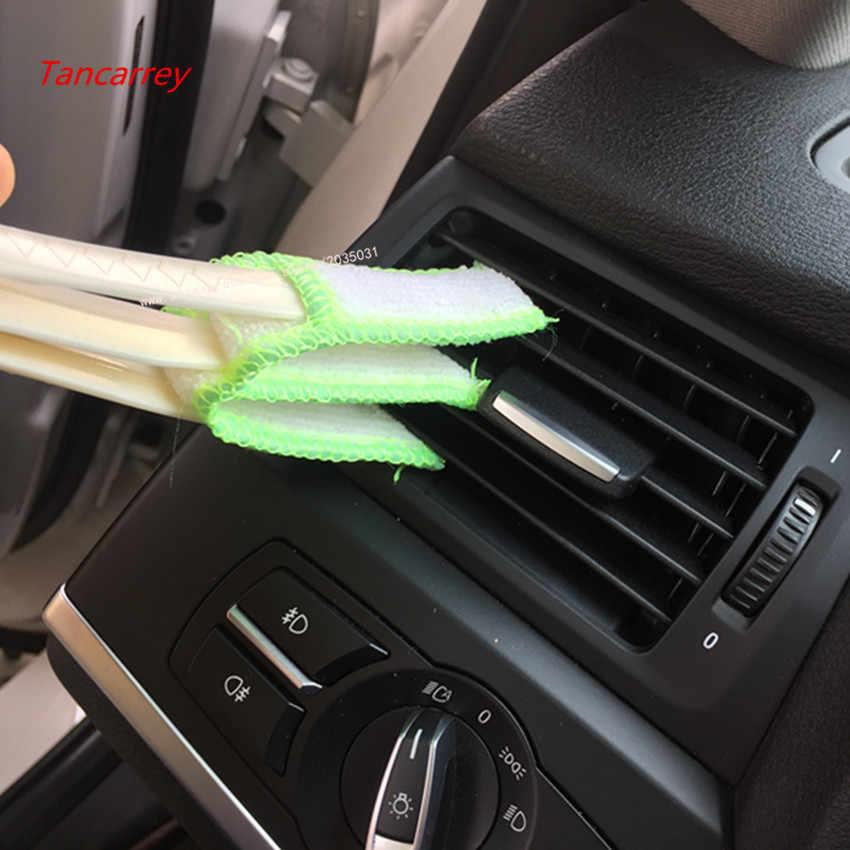 Ventilasi Udara Mobil Celah Pembersih Kuas untuk Citroen C3 VW POLO untuk Solaris Hover Dodge Neon Lifan Outlander Ford pesta