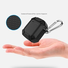 For AirPods case luxury armor shockproof Case Wireless Bluetooth Headset cover silicon Earphone Air Pods Charging Box