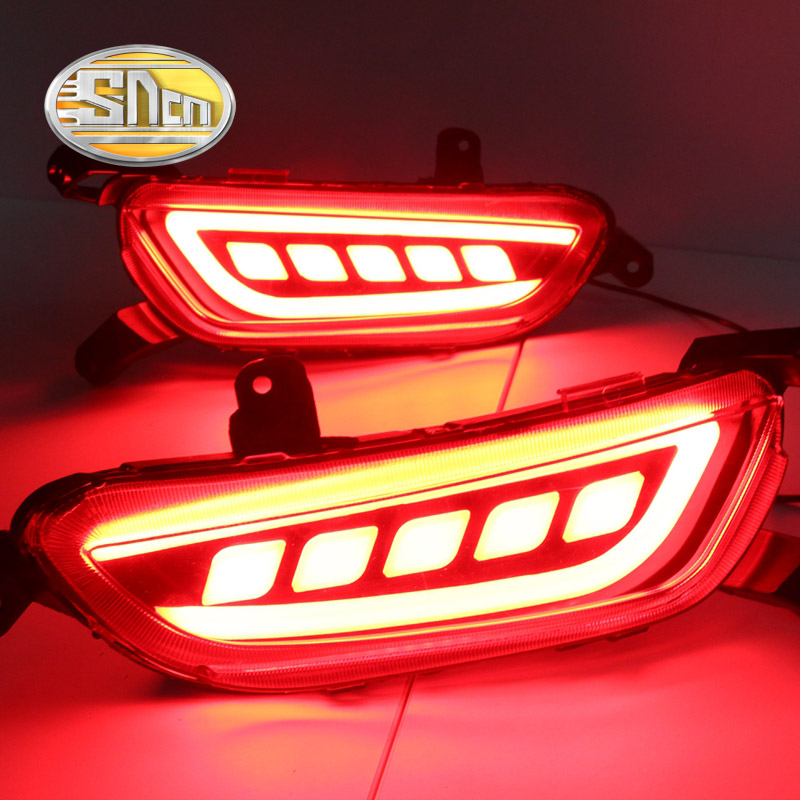 For Mazda CX-3 CX3 2016 2017 2018 SNCN Multi-function Car LED Rear Bumper Light Rear Fog Lamp Brake Light Turn Signal Light ветровики skyline mazda 3 wag 04