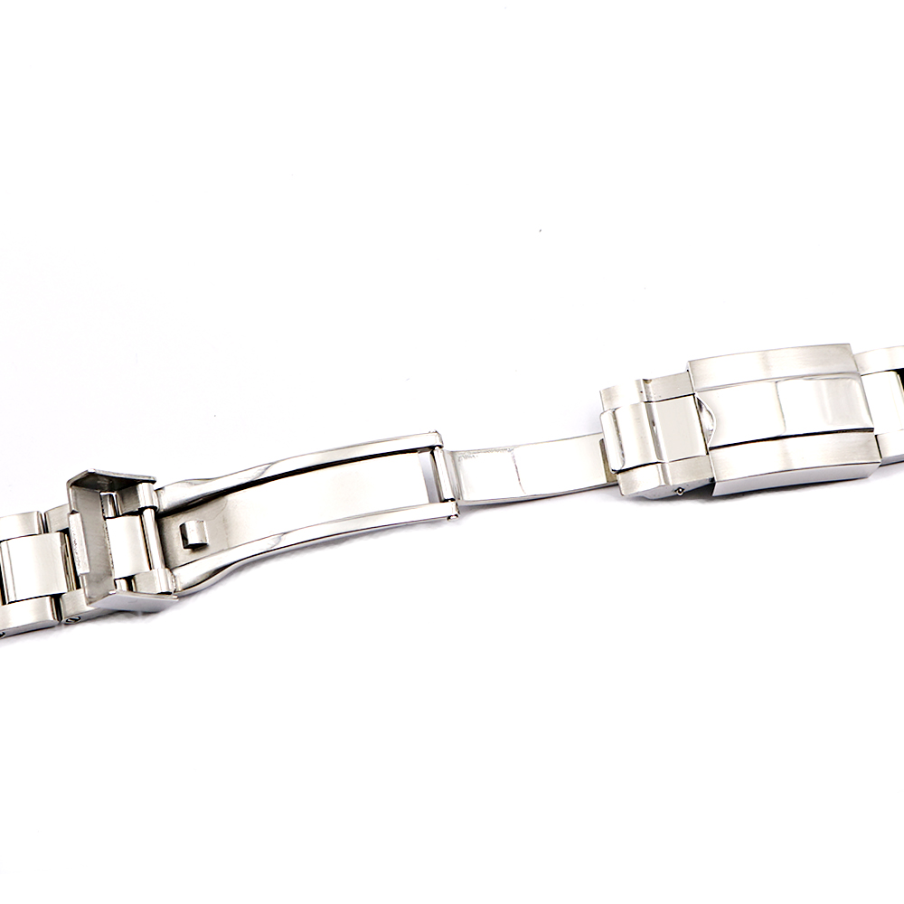 Image 5 - CARLYWET 20 21mm Silver Middle Polished 316L Solid Stainless Steel Watch Band Belt Strap Bracelets For Submariner GMT-in Watchbands from Watches