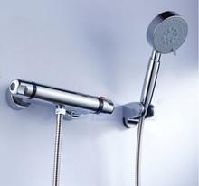 Опт и розница высокое качество латуни хром закончил ванной термостатическая душа установить
