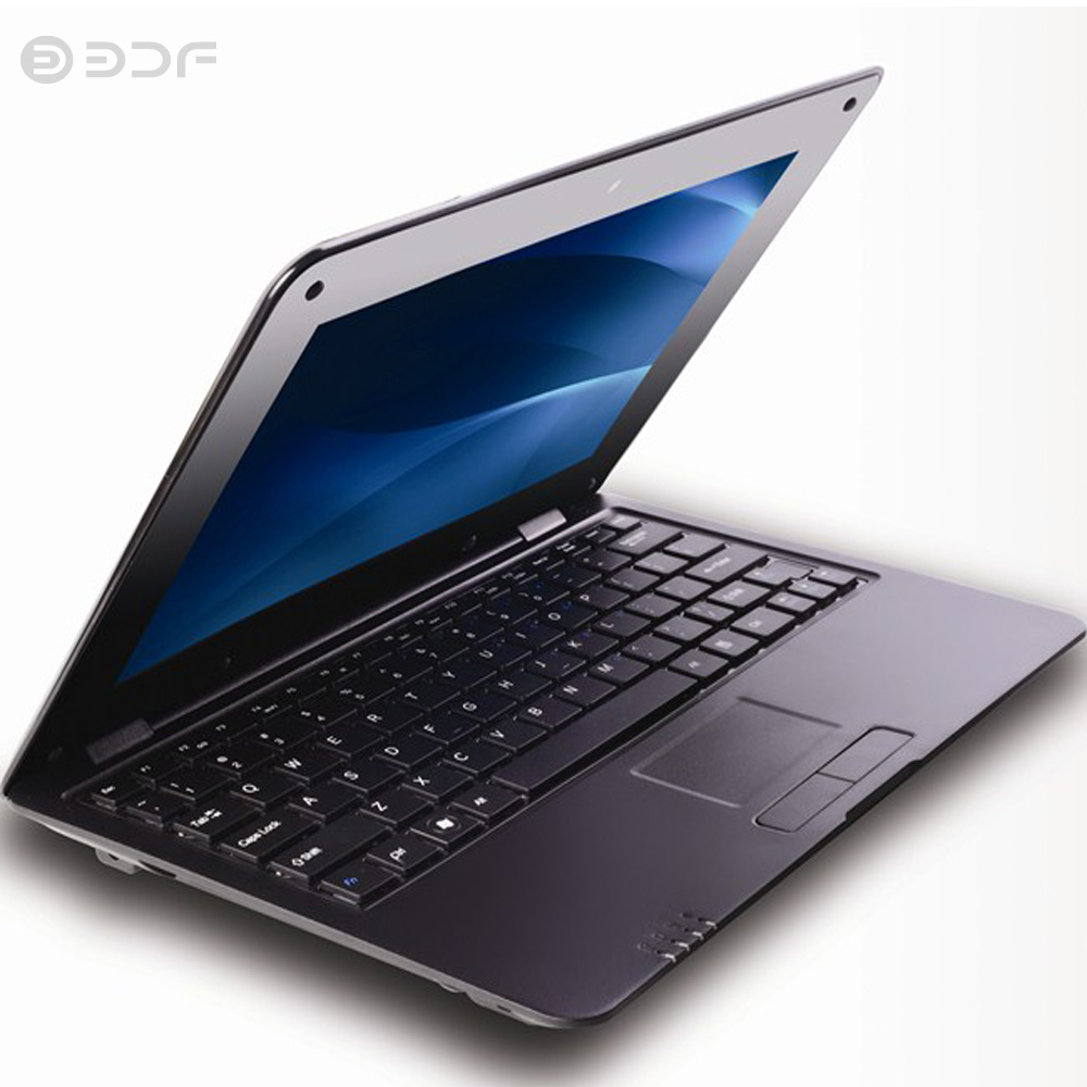 Notebook Da 10.1 Pollici del computer portatile Del Computer Quad Core Android 6.0 Wi Fi Mini Netbook Bluetooth USB RJ45 Slot Tastiera mouse compresse - 2