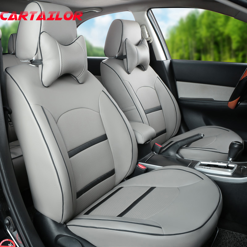 CARTAILOR PU leather seat covers auto styling for Peugeot 3008 car seat cover interior accessories set ventilated seats supports covers for citroen c4 car seat cover interior accessories sandwich cover seats for citroen black car styling seats protector
