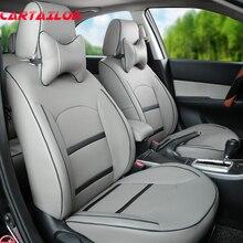 Cartailor Искусственная кожа чехлы на сиденья авто стиль для Peugeot 3008 Автокресло Обложка аксессуары для интерьера комплект вентиляцией поддерживает