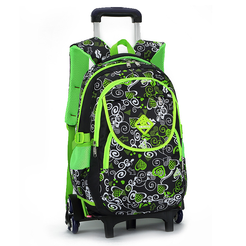 Lovely Printing Trolley School Bags Girls Backpack kids Wheels Primary School backpack kids Satchel Children Travel Luggage bags