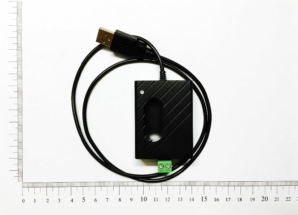 MBUS to USB main station module, MBUS device debugging dedicated usb to rs485 module black