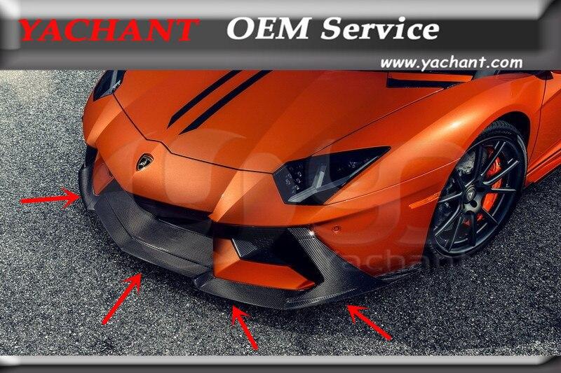 Voiture-Styling Accessoires Auto Lèvre Avant Fit Pour 11-16 Aventador LP700 VRS ZARAGOZA EDIZIONE Style Pare-chocs Avant Lip Spoiler