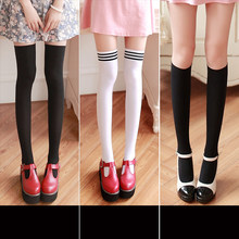 15f63a3e05a New Fashion silk stockings Women s Sexy Thigh High Over The Knee Socks Long  Stockings For Girls Ladies Women leggings