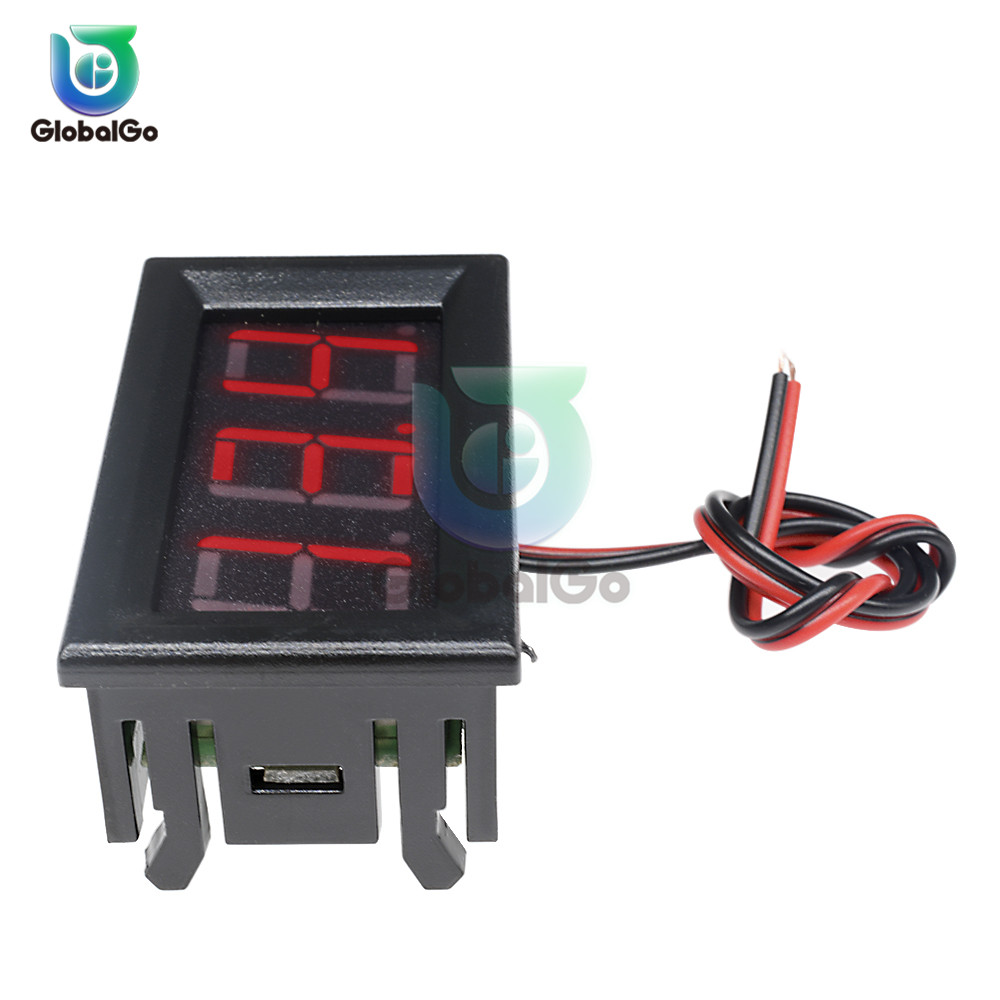 0 56 inch Mini DC Digital Voltmeter 2 Wire 3 Wire DC4 5V to30V 0 56 quot LED Display Voltage Panel Meter For 6V 12V Motorcycle Car in Voltage Meters from Tools
