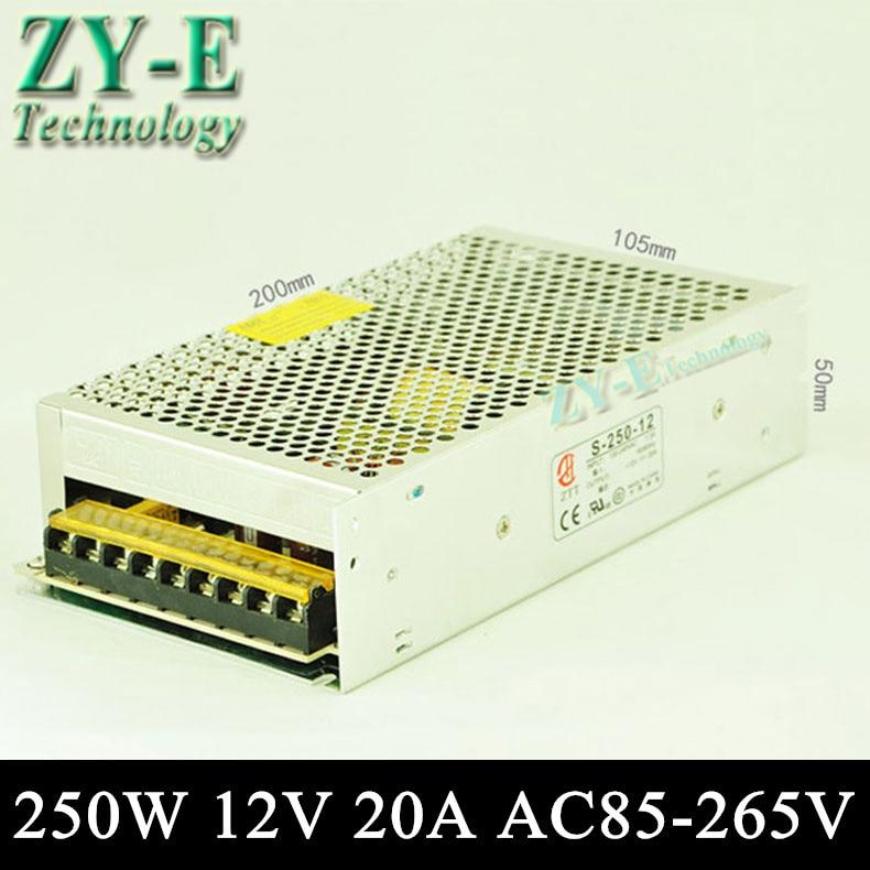250 W 12 V 20A commutation LED DC alimentation non-driver étanche LED pour 3528/5050 LED bande de lumière bloc d'alimentation livraison gratuite